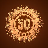 50 years anniversary vector icon, logo. Graphic design element, golden decoration for 50th anniversary card Stock Images