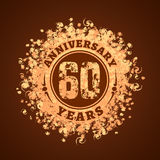 60 years anniversary vector icon, logo. Graphic design element, golden decoration for 60th anniversary card Stock Images