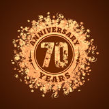 70 years anniversary vector icon, logo Stock Photos