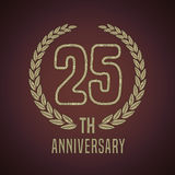 25 years anniversary vector icon, logo Stock Photography