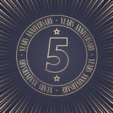 5 years anniversary vector icon Royalty Free Stock Images