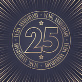 25 years anniversary vector icon, logo Stock Image