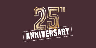 25 years anniversary vector icon, logo. Stock Photography