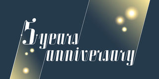 5 years anniversary vector icon, logo Royalty Free Stock Image