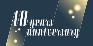 10 years anniversary vector icon, logo Stock Images