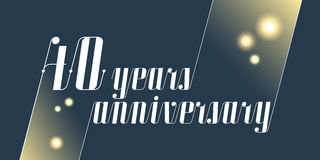 40 years anniversary vector icon, logo Royalty Free Stock Photo