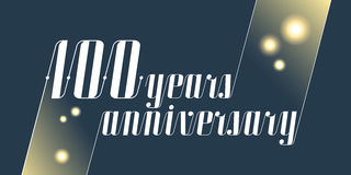 100 years anniversary vector icon, logo Royalty Free Stock Photo