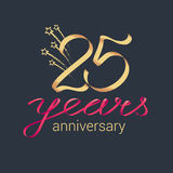 25 years anniversary vector icon, logo Stock Photos