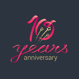 10 years anniversary vector icon Stock Photography