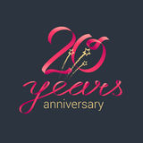 20 years anniversary vector icon Royalty Free Stock Photography