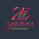 25 years anniversary vector icon Royalty Free Stock Image