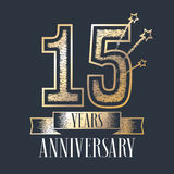 15 years anniversary vector icon, logo Stock Photos