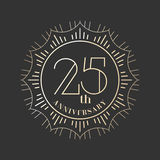 25 years anniversary vector icon, logo. Graphic design element for 25th anniversary birthday card Stock Image