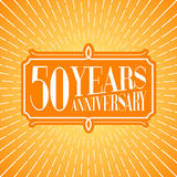50 years anniversary vector icon, logo. Graphic design element for 50th anniversary birthday greeting card Stock Photos