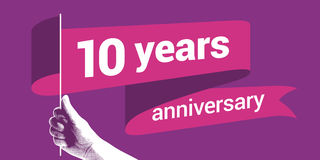 10 years anniversary vector icon Stock Photo