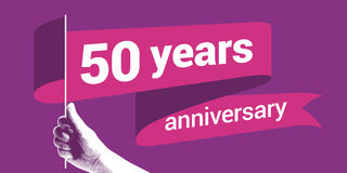 50 years anniversary vector icon Stock Photo