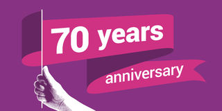 70 years anniversary vector icon Stock Images