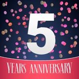 5 years anniversary vector icon, logo Stock Image