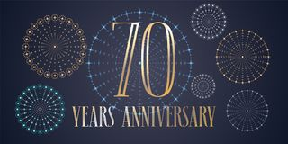 70 years anniversary vector icon, logo Royalty Free Stock Photography