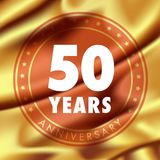 50 years anniversary vector icon, logo Royalty Free Stock Photo