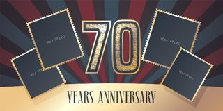 70 years anniversary vector icon, logo Royalty Free Stock Photo