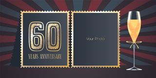 60 years anniversary vector icon, logo Stock Photography