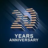 20 years anniversary vector icon, logo. Graphic design element with nonstandard elegant font for 20th anniversary Stock Photos