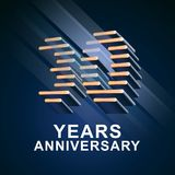 30 years anniversary vector icon, logo. Graphic design element with nonstandard elegant font for 30th anniversary Stock Images