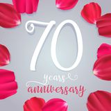 70 years anniversary vector icon, logo. Graphic design element with numbers for 70th birthday or wedding anniversary greeting card Stock Images