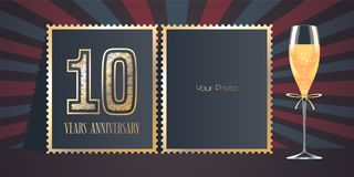 10 years anniversary vector icon, logo Royalty Free Stock Photography