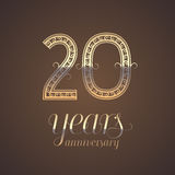 20 years anniversary vector icon, symbol Stock Photography