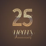 25 years anniversary vector icon, symbol Stock Image