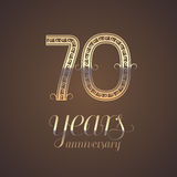 70 years anniversary vector icon, symbol Royalty Free Stock Images