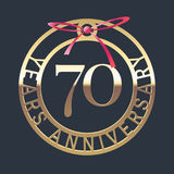 70 years anniversary vector icon, symbol Royalty Free Stock Photo