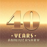 40 years anniversary vector icon, symbol Royalty Free Stock Images