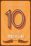 10 years anniversary. Vector illustration of the 10 years anniversary Royalty Free Stock Photos