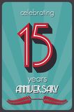 15 years anniversary. Vector illustration of the 15 years anniversary Stock Photography