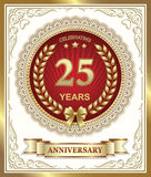 25 years anniversary. Vector illustration of the 25 years anniversary Stock Image