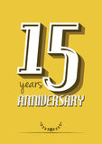 15 years anniversary. Vector illustration of the 15 years anniversary Stock Images