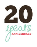 20 years anniversary Royalty Free Stock Photography