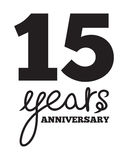 15 years anniversary Royalty Free Stock Images