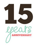 15 years anniversary. Vector illustration of the 15 years anniversary Royalty Free Stock Images