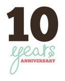 10 years anniversary. Vector illustration of the 10 years anniversary Royalty Free Stock Photo