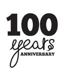 100 years anniversary. Vector illustration of the 100 years anniversary Stock Photos