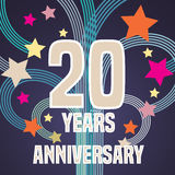 20 years anniversary vector illustration, banner, flyer, icon Stock Photo
