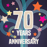 70 years anniversary vector illustration, banner, flyer, icon Royalty Free Stock Photography