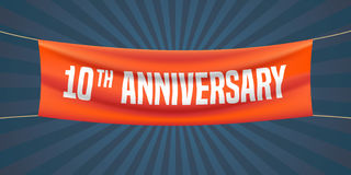 10 years anniversary vector illustration, banner, flyer, logo, icon Stock Images