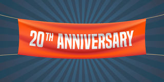 20 years anniversary vector illustration, banner, flyer, logo, icon Royalty Free Stock Image