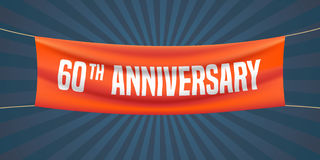 60 years anniversary vector illustration, banner, flyer, logo Stock Image