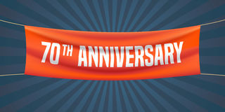 70 years anniversary vector illustration, banner, flyer, logo, icon Royalty Free Stock Image